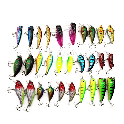 Price comparison product image FClearup1991 HOT!Lot 30pcs Trout Spoon Metal Fishing Lures Spinner Baits Bass Tackle Colorful