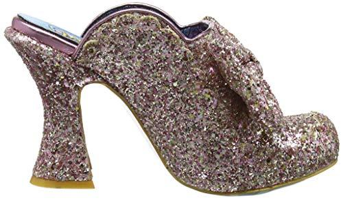Zuecos B Para Mujer Irregular Queen Rosa Choice Glitter pink 4qAt8Uw