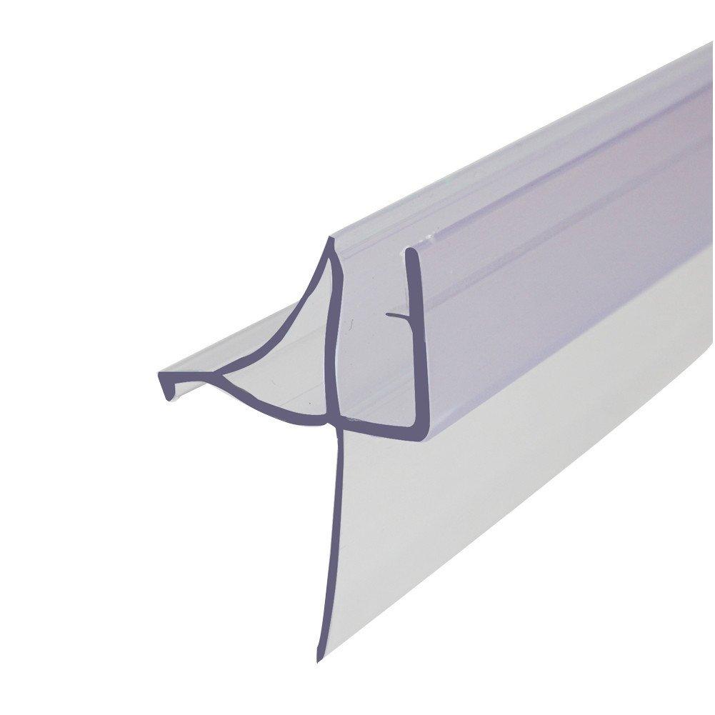 Frameless Glass Shower Door Seal,Used as Shower Door Gasket,36 Inch Long,Transparent