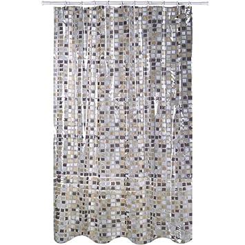 Msv Rideau De Douche Mosaique 200 X 180cm Transparent
