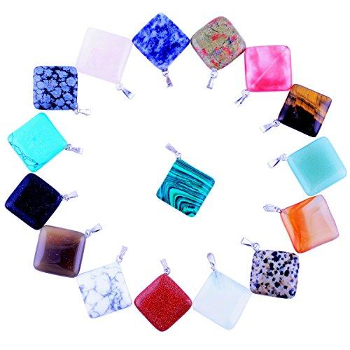 Rhombus Pendants Semi Precious Handmade Necklace