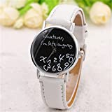 FULLIN Unisex Wrist Watch, Quartz Analog Watch with Leather Band Love Gift