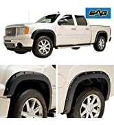 EAG Fender Flare Pocket Style ABS Black Textured 4PCS Offroad Fit for 07-13 GMC Sierra 1500