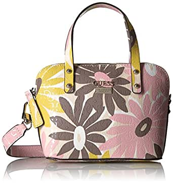 GUESS Jordyn Mini Dome Satchel Floral Multi Handbags Amazon.com