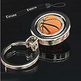 Estone® 1pc 3D Rotating Basketball/Football/Golf Keychain Keyring Pendant Gift Keyfob (Basketball)