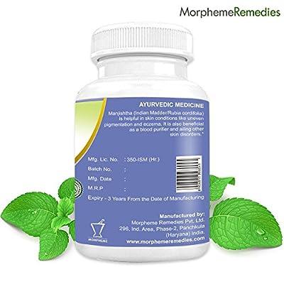 Morpheme Manjistha (Rubia Cordifolia) 500mg Extract 60 Veg Capsules