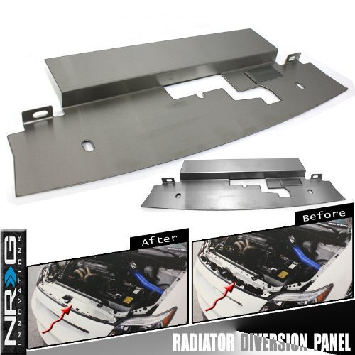NRG Stainless Steel Radiator Diversion Panel, Fitment for 1995 - 1996 Nissan 240sx S14 (Cooling Panel Radiator)