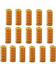 Formfjädrar till 3D-skrivare, Ruesious 8 mm OD 20 mm längd kompressionsfjädrar M3 skruv lätt belastning för Creality CR-10 10S S4 Ender 3 moderkort bottenanslutning utjämning – 16-pack