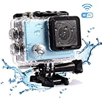 Bestguarder 4K Wifi Sports Action Camera Ultra HD Waterproof DV Camcorder 2 Inch Screen 12MP 170 Degree Wide Angle
