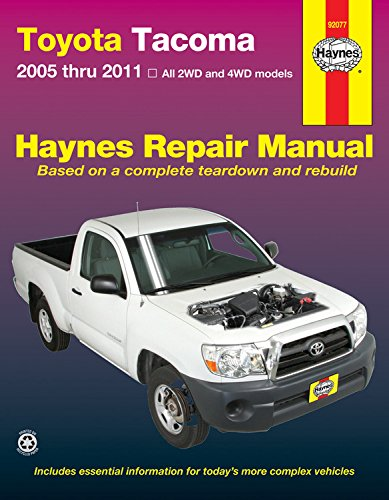 Manual Parts Illustration - Toyota Tacoma, 2005 Thru 2011 All 2wd and 4wd Models
