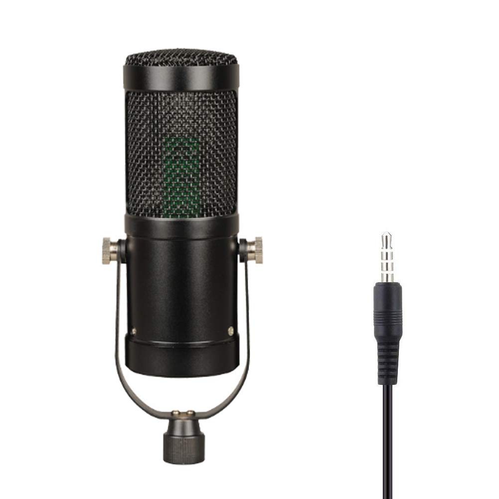 MIKE-ZY PC Microphone, 3.5Mm Plug, Plug and Play, Omnidirectional, Desktop Stand, for Games, YouTube, Podcasts, Studio Recordings, Online Chat, for PC, Laptop, Tablet/Black