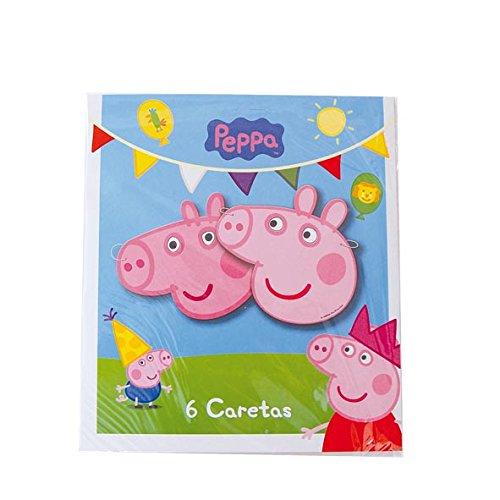 Peppa Pig Masks (6 Pack)