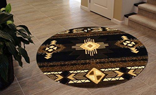 Cheap  South West Area Rug Design Concord C318 Black (4 Feet X 4..