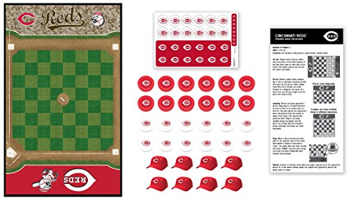 MasterPieces MLB Cincinnati Reds Checkers Board Game, For 2 Players, Ages 6+