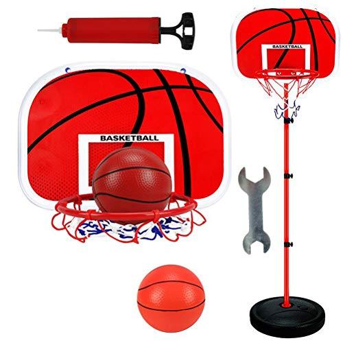 Toyvian Canasta Baloncesto Infantil Altura Ajustable para Niños Juguetes Actividades para Niños y Jóvenes Interior...