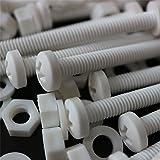 20 x White Philips Pan Head Screws Polypropylene