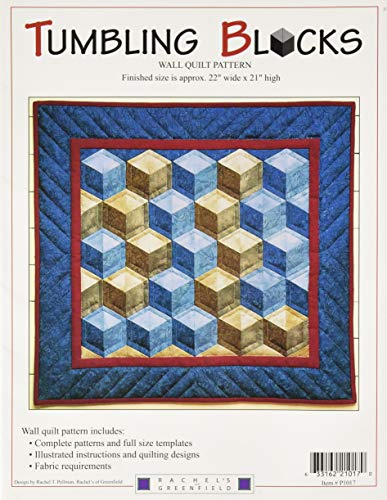 Rachel's Of Greenfield P1017TB Tumbling Blocks Wall Quilt Pattern, None