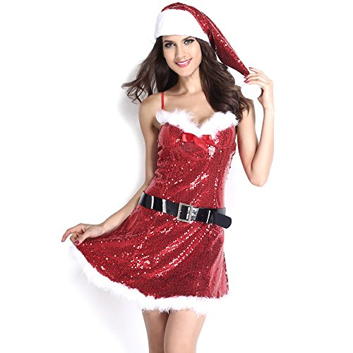 Sexiest Guy Halloween Costumes (Slocyclub Novelties Women Sweet Miss Santa Suit Halloween Costume)