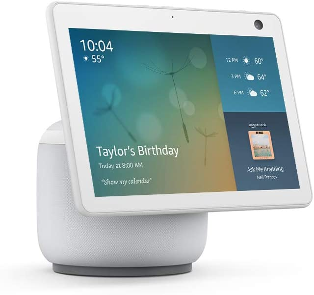 All-new Echo Show 10 (3rd Gen) Smart Display - Glacier White