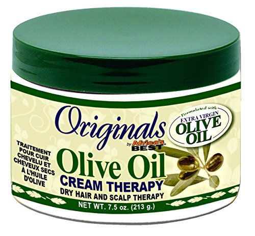Africas Best Originals Olive Oil Cream Therapy 7.5 Ounce Jar (221ml) (2 Pack) (Olive Africas Oil Best)