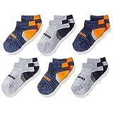 Skechers boys Skechers Boys' 6 Pack Low Cut Socks