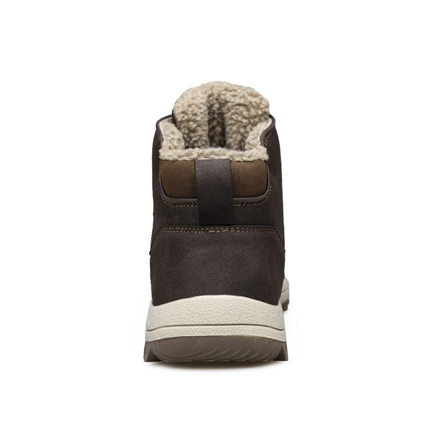 SUNROLAN SLL-DLZ-572070-zong-43 Men's Microfiber Leather Snow Boots with Fur  Lining Ankle Top Winter Shoes US9.5: Amazon.ca: Shoes & Handbags