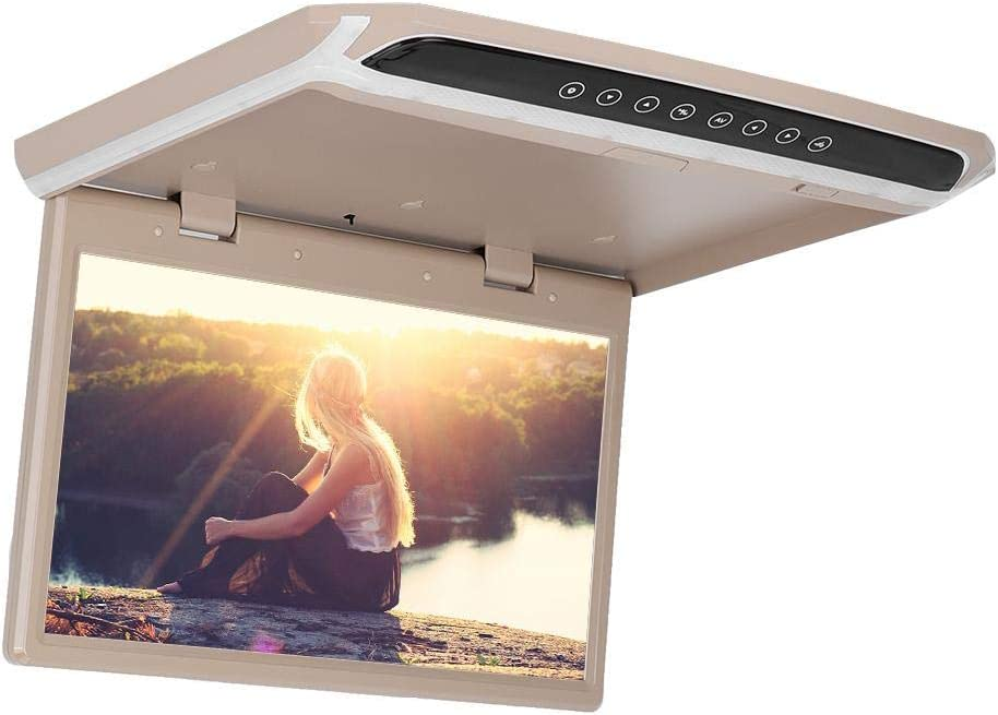 Car Auto 15.6in TFT Ceiling Roof Video 1080P HD Monitor Screen USB TF HDMI Media Player Qiilu Car Monitor