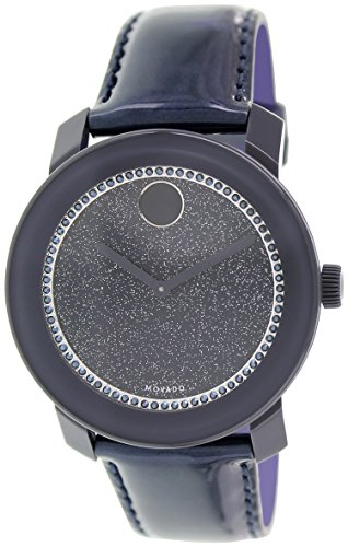 Movado Women's Swiss Bold Pearlized Navy Patent Leather Strap Watch 42mm 3600229