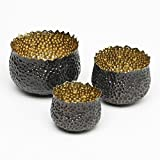 Studio A Bubble Brass Nesting Bowls, Set of 3