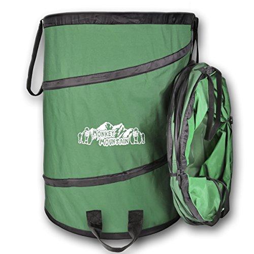 Monkey Mountain Popup Gartensack aus ultrastabilem, wasserdichten Oxford Polyester 600D mit robusten Tragegriffen in 80 L oder 140 L (140 L)