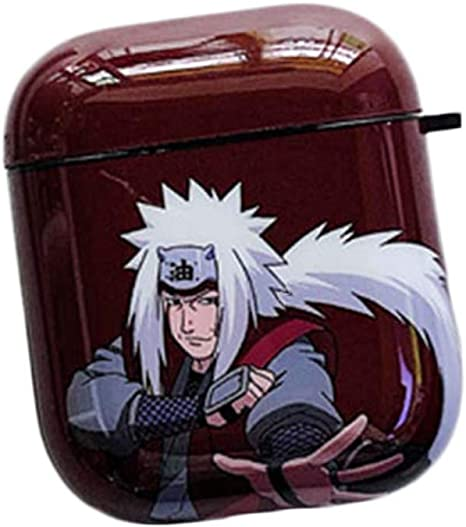 5Pcs Raleighsee Anime Naruto Cartoon AirPods1//2 Generation TPU Protective Case Scratch-Proof Anti-Fall Portable Bluetooth Headphone Box Protective Cover