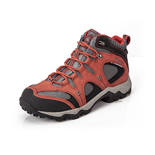 - Clorts Men's Hiking Boot Waterproof Lightweight Backpacking Trekking Trail Shoes Maroon HKM-820B US10