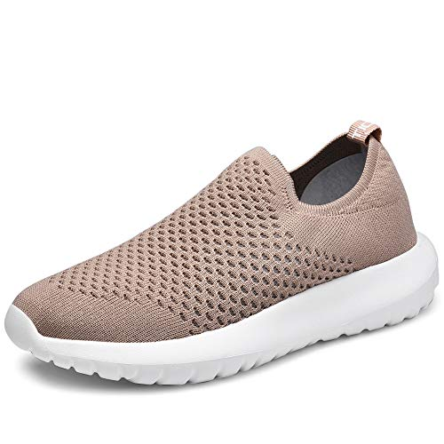 TIOSEBON Women's Casual Walking Shoes Slip On Travel Sneakers 7.5 US Apricot