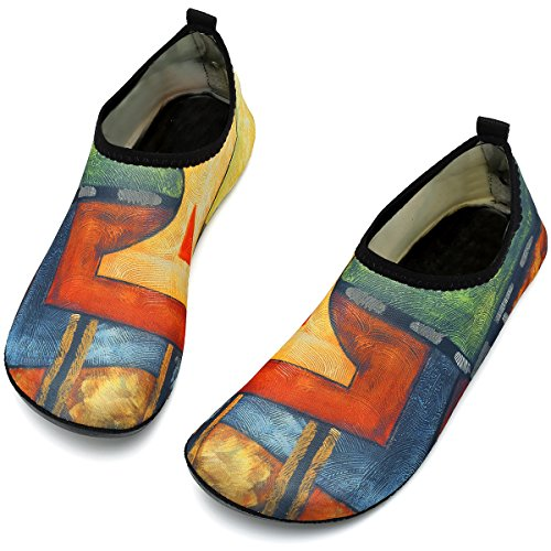 Pool Quick Unisex Exercise Drying Women Yoga Abstract Painting VIFUUR Aqua for Men Shoes Beach Water Shoes xRYqwWd5