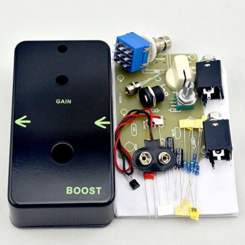 TTONE DIY Vintage Booster Guitar Effects Pedal Clean Boost True Bypass Metal Stompbox Kit Black by TTONE