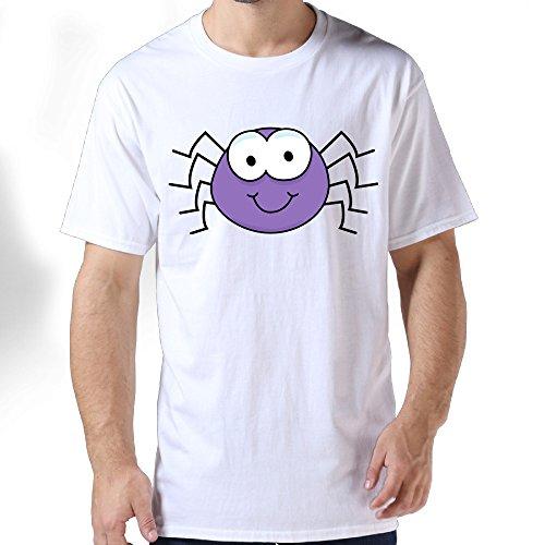 Jukaifaquj Purple Cartoon Spider Men's Fashion Leisure Cotton Adult Standard Weight T-Shirt 3X (Homecoming Dance Ideas)