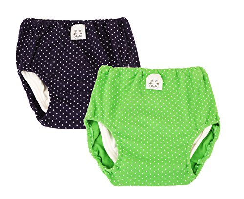JN&LULU Baby Wave Point Cotton Training Pants Pack of 2 (24-36Months)
