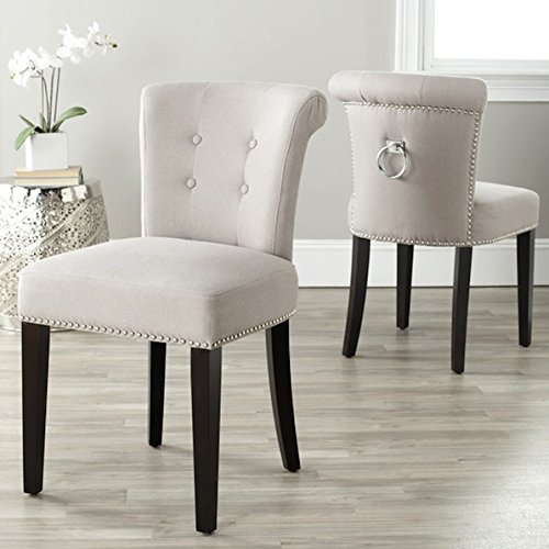 Cheap Safavieh Carrie Wheat Linen Side Modern Chairs (Set of 2)
