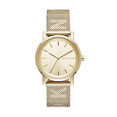 DKNY Women's 'SoHo' Quartz Stainless Steel Casual Watch, Color:Gold-Toned (Model: NY2621)