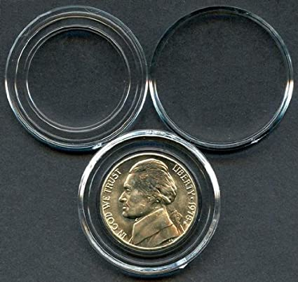 10 PACK OF DIRECT FIT AIRTITE COIN CAPSULES HOLDERS NICKEL
