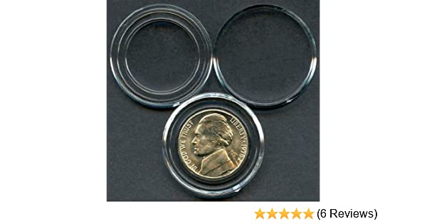 Air-Tite Holders 21mm White Ring 25 Pack US Nickel Coin Capsules