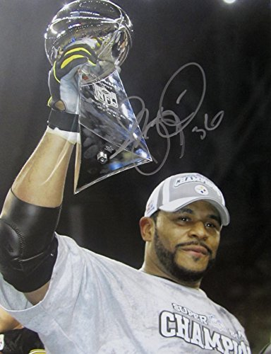 (JEROME BETTIS AUTOGRAPHED Hand SIGNED 11x14 PHOTO PITTSBURGH STEELERS w/COA 2005 Super Bowl XL )