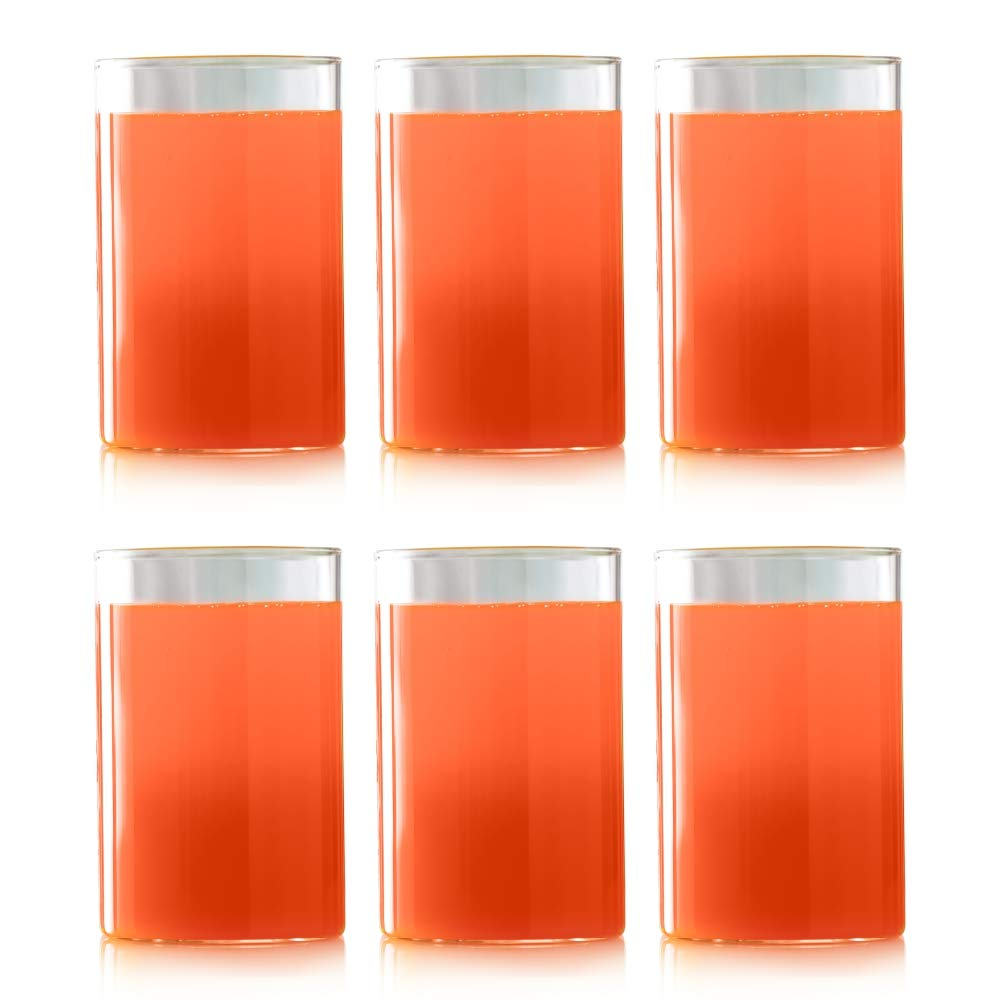 Vision Classic - Premium 6 Piece Glass Set - Ultra Durable, Odor Proof, Fade Proof, Stronger Than Glass (10 OZ)