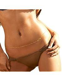 Jane Stone Hot Sexy Waist Belt Belly Unibody Body Chain Gold