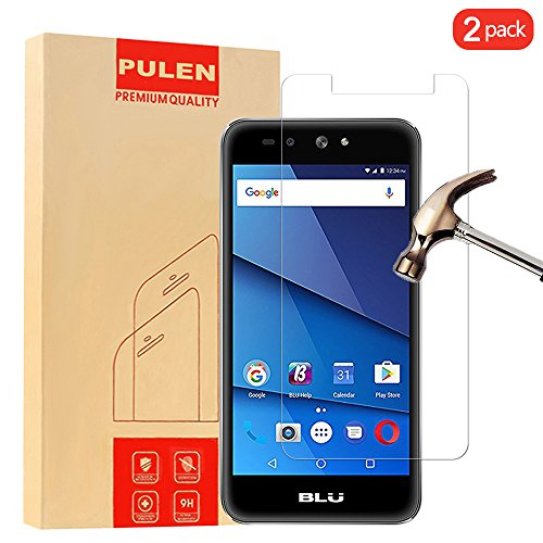 PULEN [2 Pack] BLU Advance A5 LTE Screen Protector, 0.3MM Slim And 9H Hardness Tempered Glass [Anti-Scratch] [Bubble Free] Extreme Hardness with Lifetime Replacement Warranty