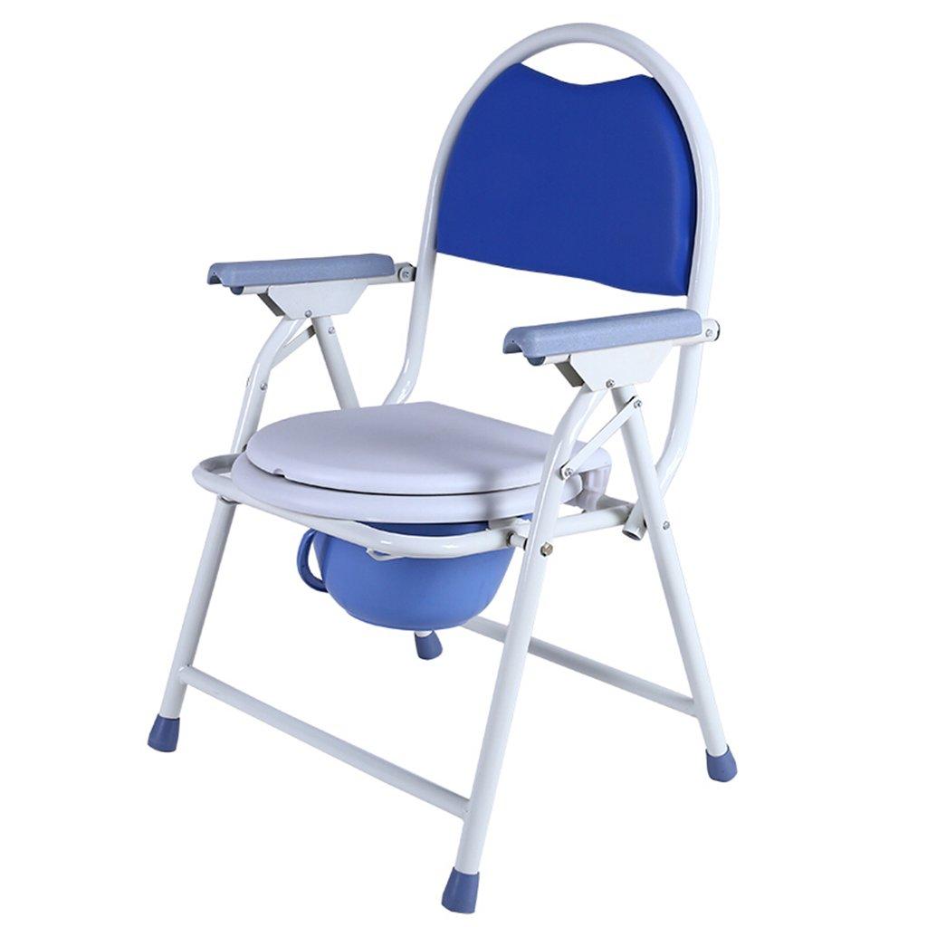 トイレ椅子、折りたたみ式滑り止め肥厚浴室老人妊娠中の女性トイレチェア B078YJWTYZ