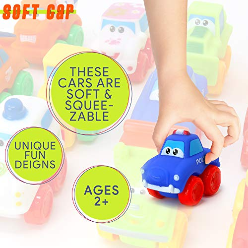 Big Mo's Toys Baby Cars - Soft Rubber Toy Vehicles for Babies and Toddlers - 12 Pieces by Big Mo's Toys (Image #3)