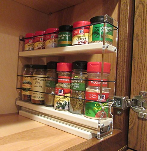 Vertical Spice 2x1 5x11 Dc Spice Rack W 1 Drawer With