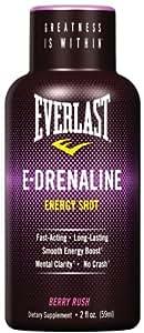 Everlast E-drenaline Energy Shot - Berry Rush, 6-Count