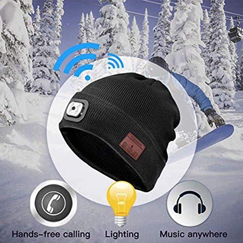 605b19f5634 Lily-Li Bluetooth LED Cap 40 Meters Long Distance Illumination Wireless  Bluetooth Headset Cap with